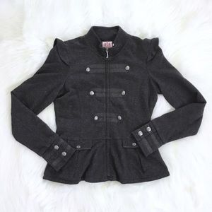 Juicy Couture Gray Peplum Style Jacket Sz M